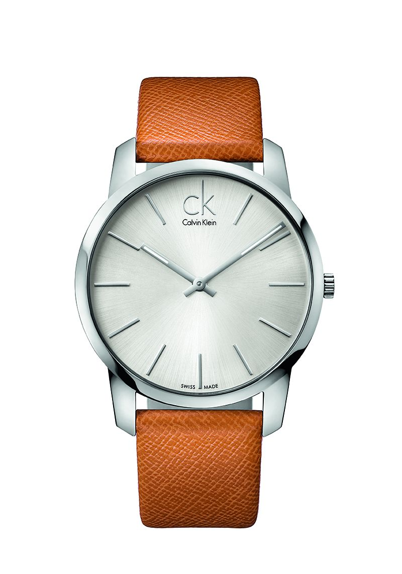 Calvin Klein City Orange Leather Strap K2G21138