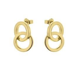 Li La Lo Gold Plated Silver 925 Earrings SAS6118